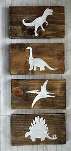 dinosaur wood sign set dinosaur decor boys dinosaur With boys room dinosaur decor ideas