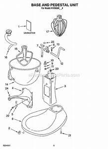 Kitchenaid Kv25g0xww4 Parts List And Diagram