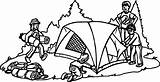 Coloring Camping Camp Camper Tent Activity Popular Wecoloringpage sketch template