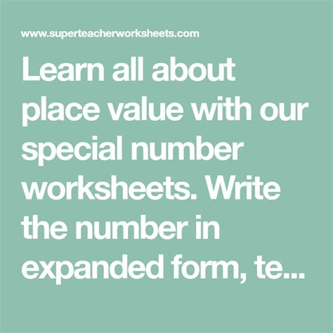 learn   place    special number