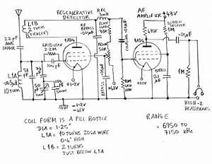 homebrew portable tube transceiver With radio circuit diagram in addition tube regenerative receiver schematic