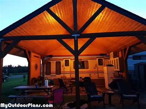 picnic shelter diy project myoutdoorplans  woodworking plans  projects diy