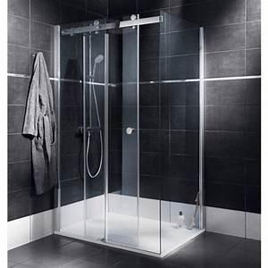 porte de douche coulissante palace salle de bains With porte de douche coulissante avec salle de bain luminaire