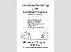 Gesprächskreis Kirchspiel MarbachSalomonsborn