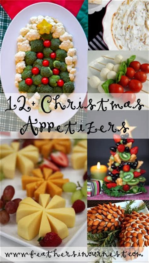 christmas party food ideas feathers   nest
