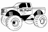 Monster Truck Pages Coloring Printable Sheets sketch template