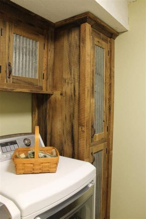 How To Clean Wood Cupboard Doors by Rustic Storage Reclaimed Barn Wood Cabinet W Tin