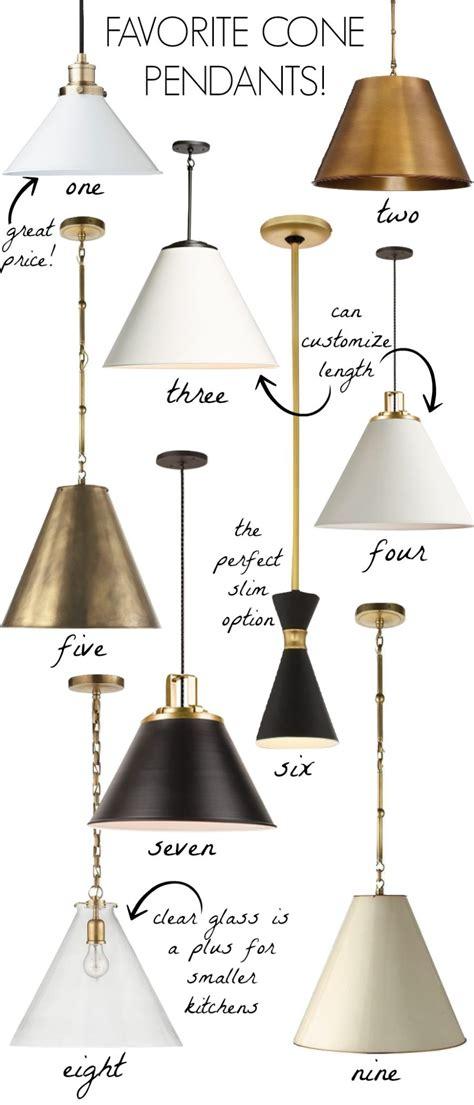 cone pendants  lighting   kitchen driven  decor