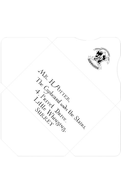 harry potter inspired addressed  sealed envelope