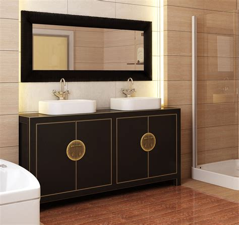 Like Bathroom Vanities by Like The Cabinetry Drama For The Home Asian Bathroom