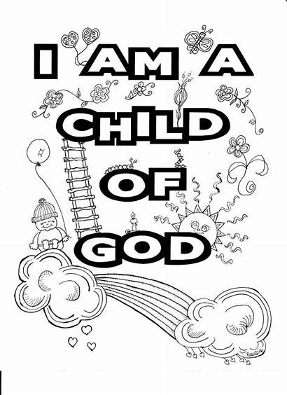 Coloring Child Pages God Colouring Printable Christmas