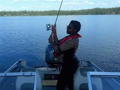 Lady Fishing Gone Fish Luck August Pike
