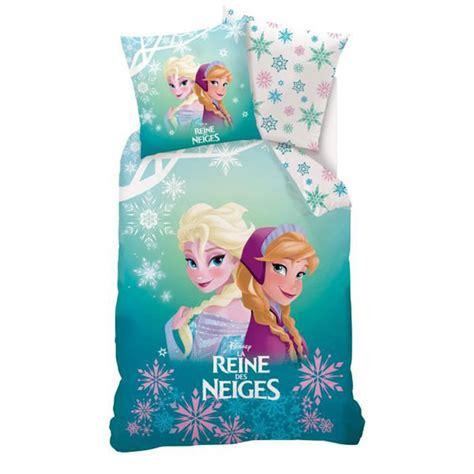 reine des neiges housse de couette disney la reine des neiges parure de lit housse de couette elsa et vert blanc 140 x 200