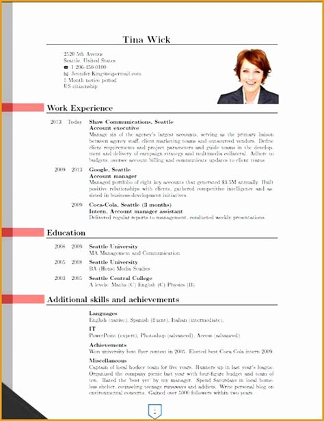 New Cv Format Sle by 7 New Curriculum Vitae Format Free Sles Exles