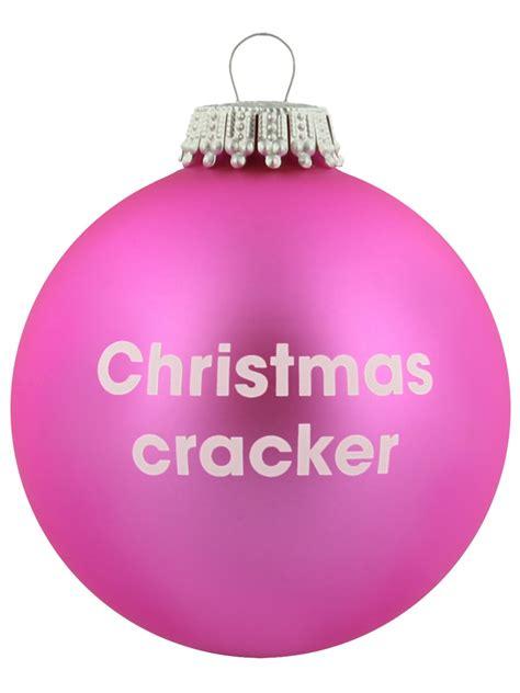 pink christmas crackers novelty cracker pink santa balls bauble ebay