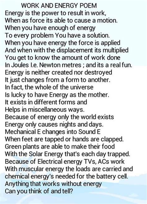 energy poems