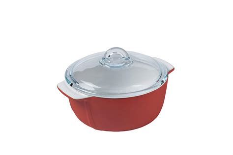 pyrex casserole signature casseroles ceramic casseruola ceramica rund rot round cocotte rotonda coperchio 5l cacerola redonda casseruole verre auflaufformen resistance