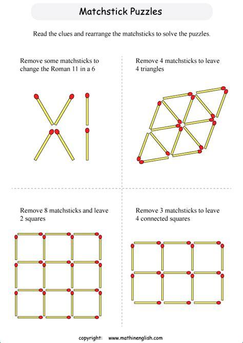 easier matchsticks math  logic puzzles  kids
