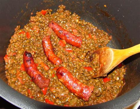 cuisiner des merguez lentilles à la marocaine shm cuisiner epices et