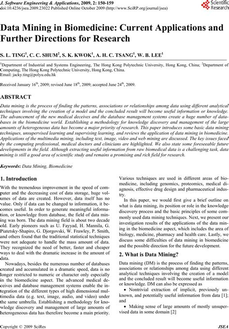 Data Mining in Biomedicine: Current Applications and