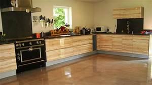beton cire sol cuisine meilleures images d39inspiration With cuisine beton cire bois