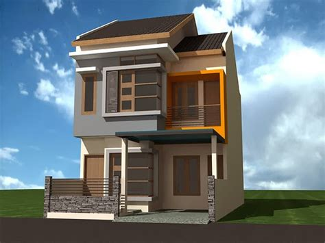 desain unik rumah minimalis  tingkat