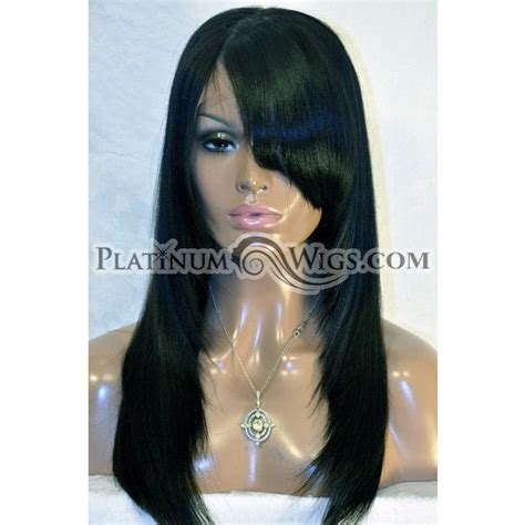 you ll this aaliyah inspired lace wig with side bangs unit shown is color 1b