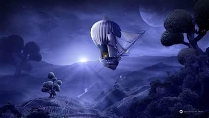 Dreamland Dream Moon Moonlight Wallpapers Purple Ship