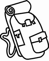 Backpack Coloring Camping Pages Clipart Clip Netart sketch template