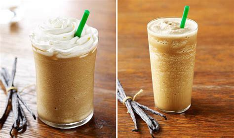 starbucks caffe vanilla light frappuccino blended coffee tall healthiest iced starbucks drinks popsugar fitness