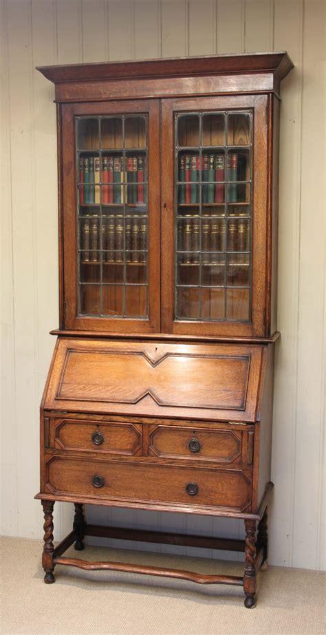 Antique Bookcases Uk by Light Oak Bureau Bookcase 235998 Sellingantiques Co Uk