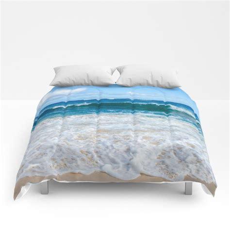 blue ocean water comforter sea bedding beach coastal