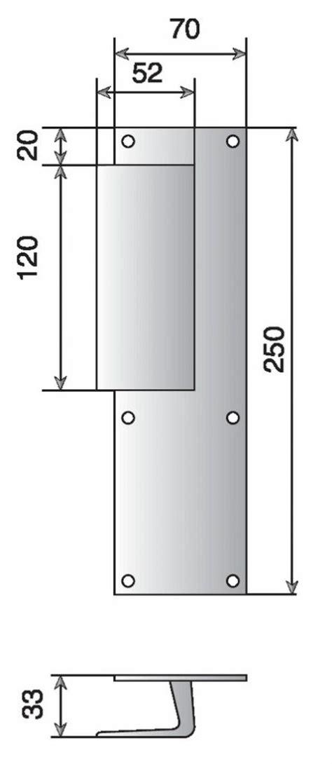 hauteur poignee de porte poign 233 es sur plaques pour portes pali 232 res dimensions 25 x 7 mm