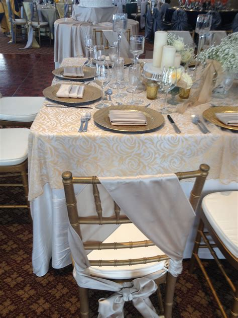 chair sash gold and ivory wedding from the bertram