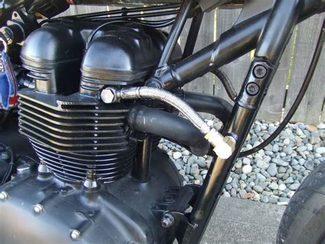 Remove The Bonneville Oil Cooler And Run Through Some