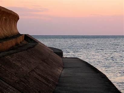 Wall Japan Concrete Sea Tsunami Building Bay