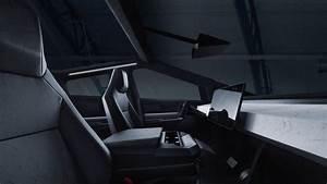 Tesla-Cybertruck-Electric-Pickup-Truck-Interior-Front-Seats-and-Center-Console - Sekiz Silindir