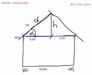 Höhe Mutterschaftsgeld Berechnen : neigungswinkel und h he des satteldachs berechnen kosinus pythagoras mathelounge ~ Themetempest.com Abrechnung