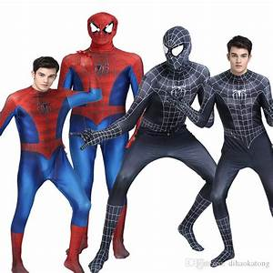 Novedan Red Black Spiderman Costume Spider Man Suit Spider ...