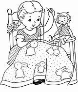 Coloring Pages Quilt Patterns Sweet sketch template
