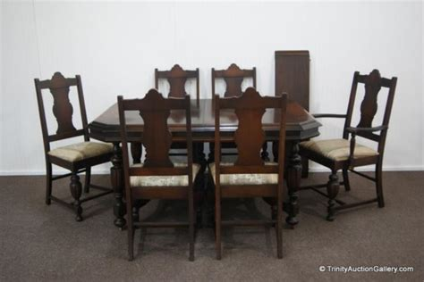 price guide  antique cs walnut dining table chair