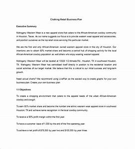 boutique business plan template 12 free word excel With how to write a business plan for a clothing line