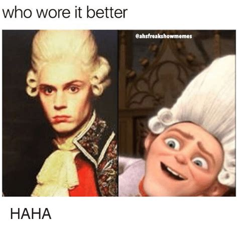 Who Wore It Better Meme - who wore it better cahsfreakshowmemes haha meme on sizzle