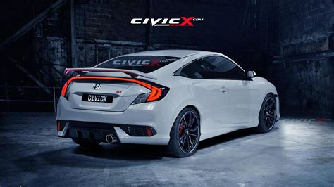 2016 Honda Civic Coupe Beautifully Rendered In Si