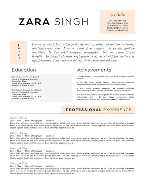 How To Present Your Resume by Resume Templates To Highlight Your Accomplishments