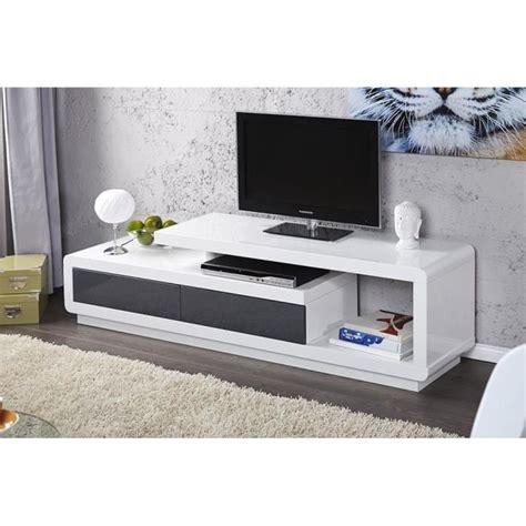 desserte bureau meuble tv meuble de salon marvin blanc gris laqué achat