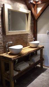 meuble vasque idees deco recup pour la salle de bains With meuble vasque salle de bain rustique