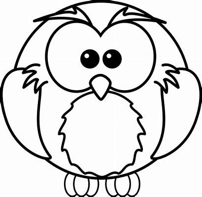 Owl Coloring Cartoon Clipart Pages Clip Owls