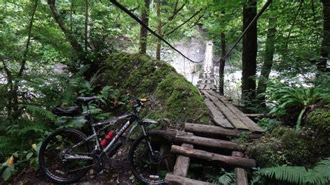 Mountain Bike Bicycle Bridges Nature Landscapes Trees