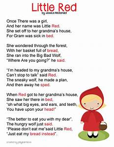 Little Red Riding Hood Poem And Lesson Plan Preschool